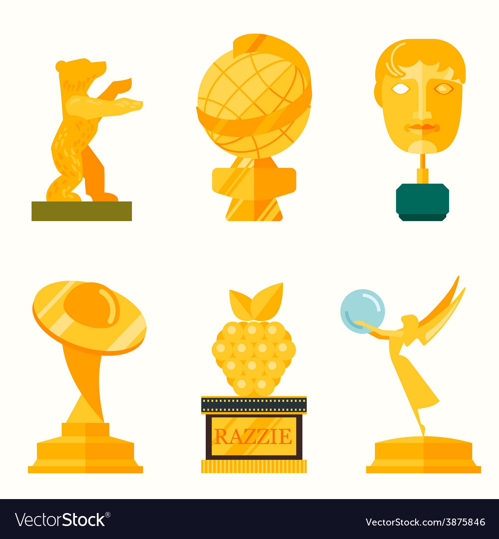 Lady statue trophy on white vector | Price: 1 Credit (USD $1)