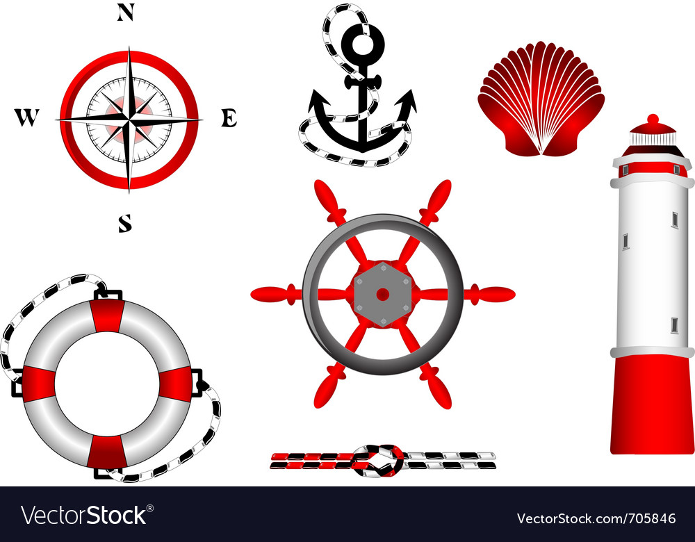 Nautical icons vector | Price: 3 Credit (USD $3)