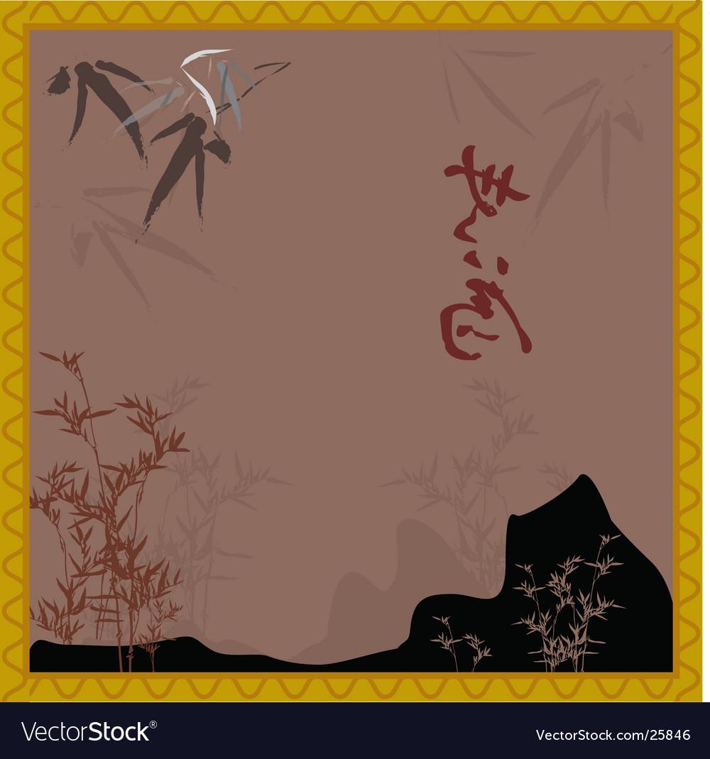 Oriental scene vector | Price: 1 Credit (USD $1)