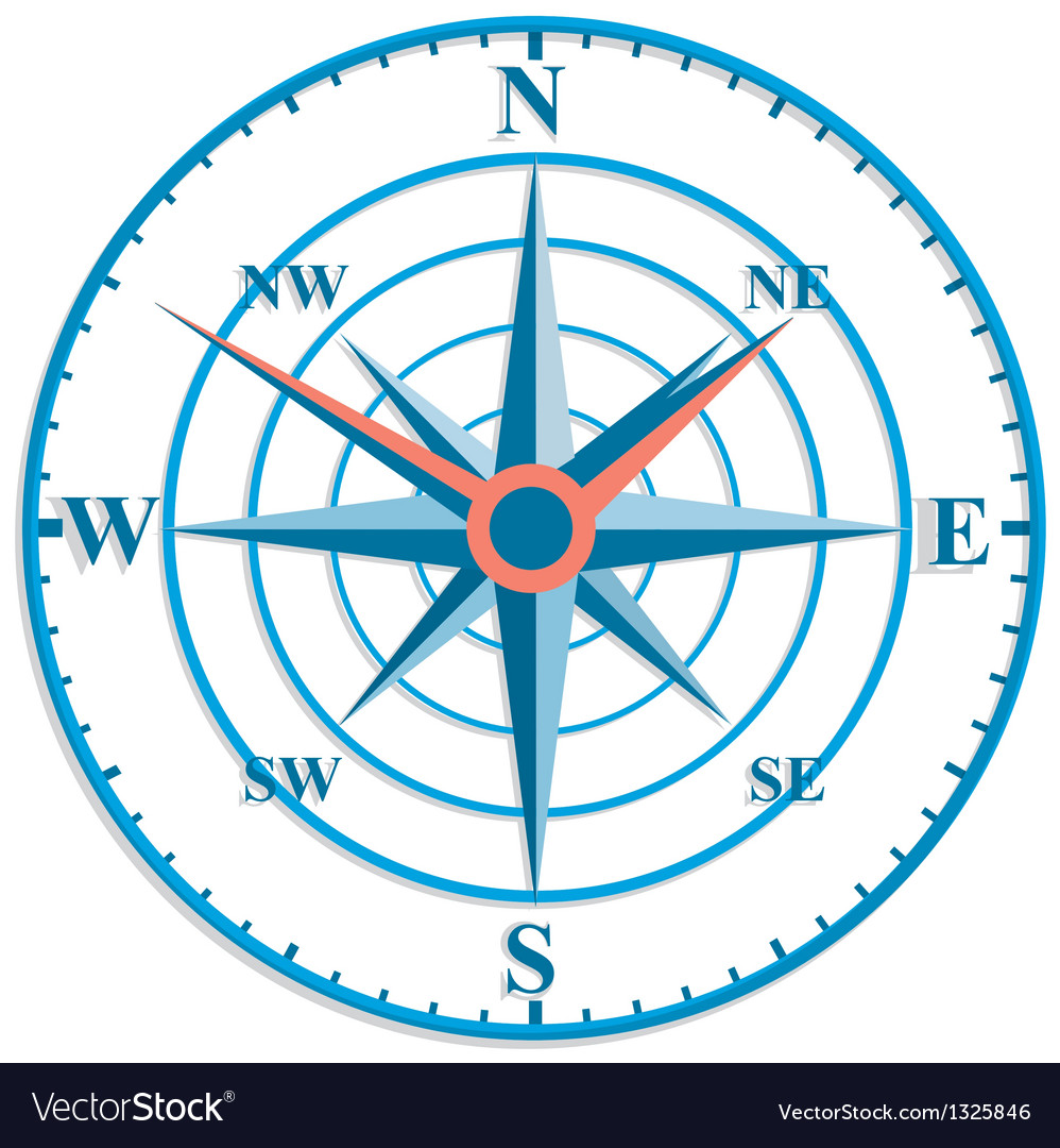 The original clock with wind rose vector | Price: 1 Credit (USD $1)