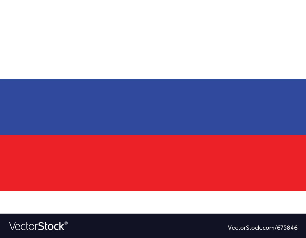 Russian flag vector | Price: 1 Credit (USD $1)