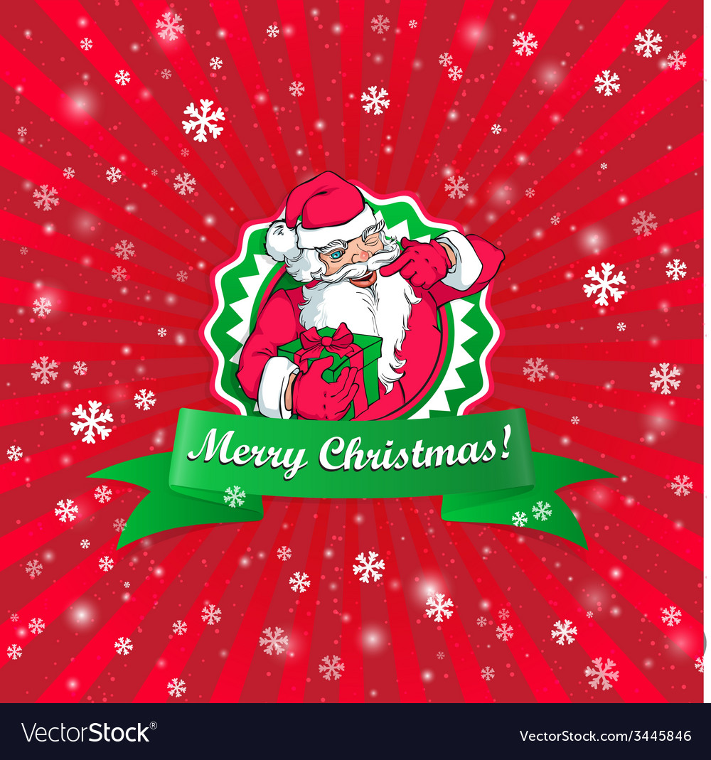 Santa claus christmas card vector | Price: 1 Credit (USD $1)