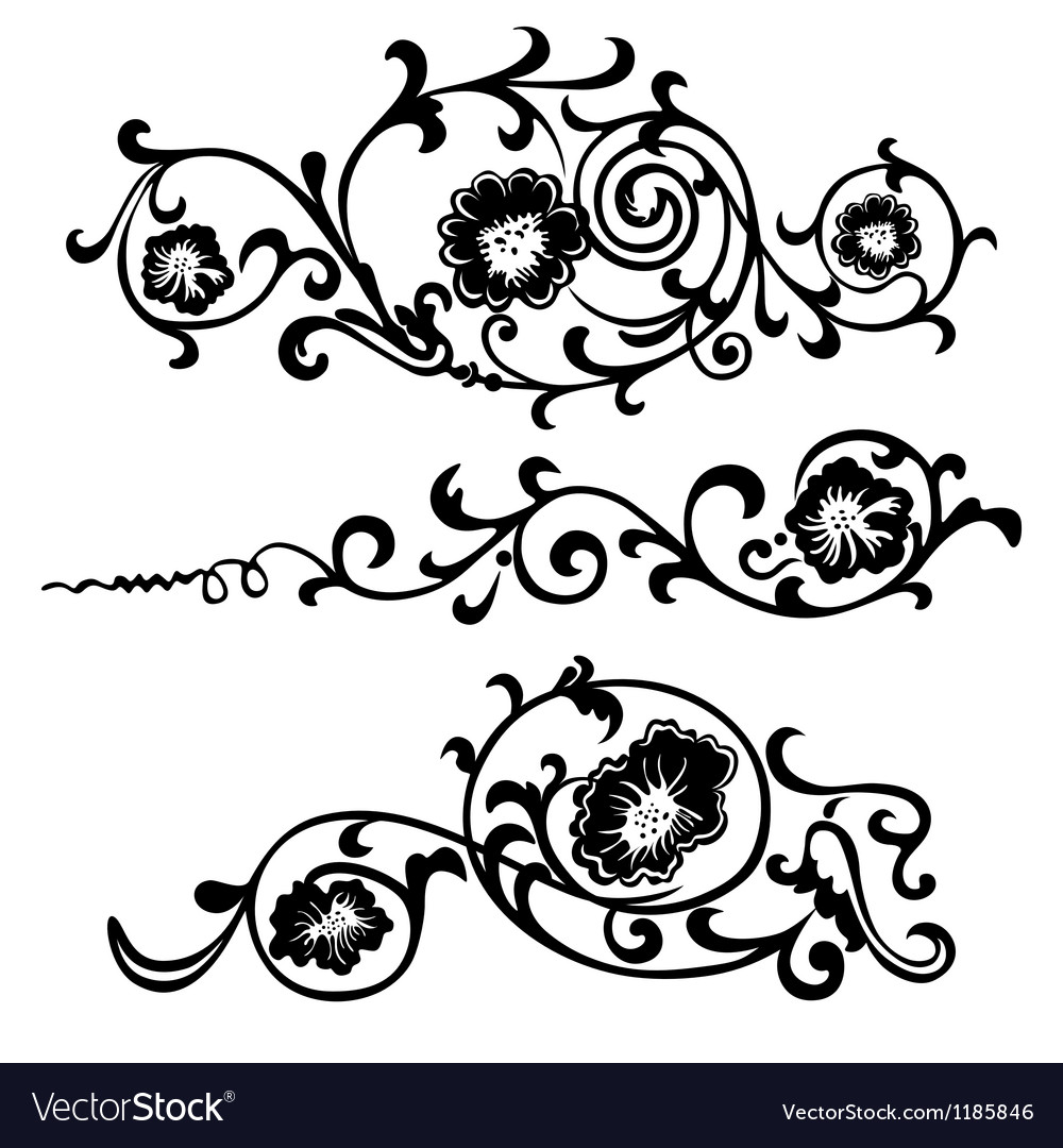 Set elements ornaments floral vector   Price: 1 Credit (USD $1)