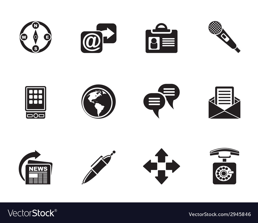 Silhouette business and internet icons vector | Price: 1 Credit (USD $1)