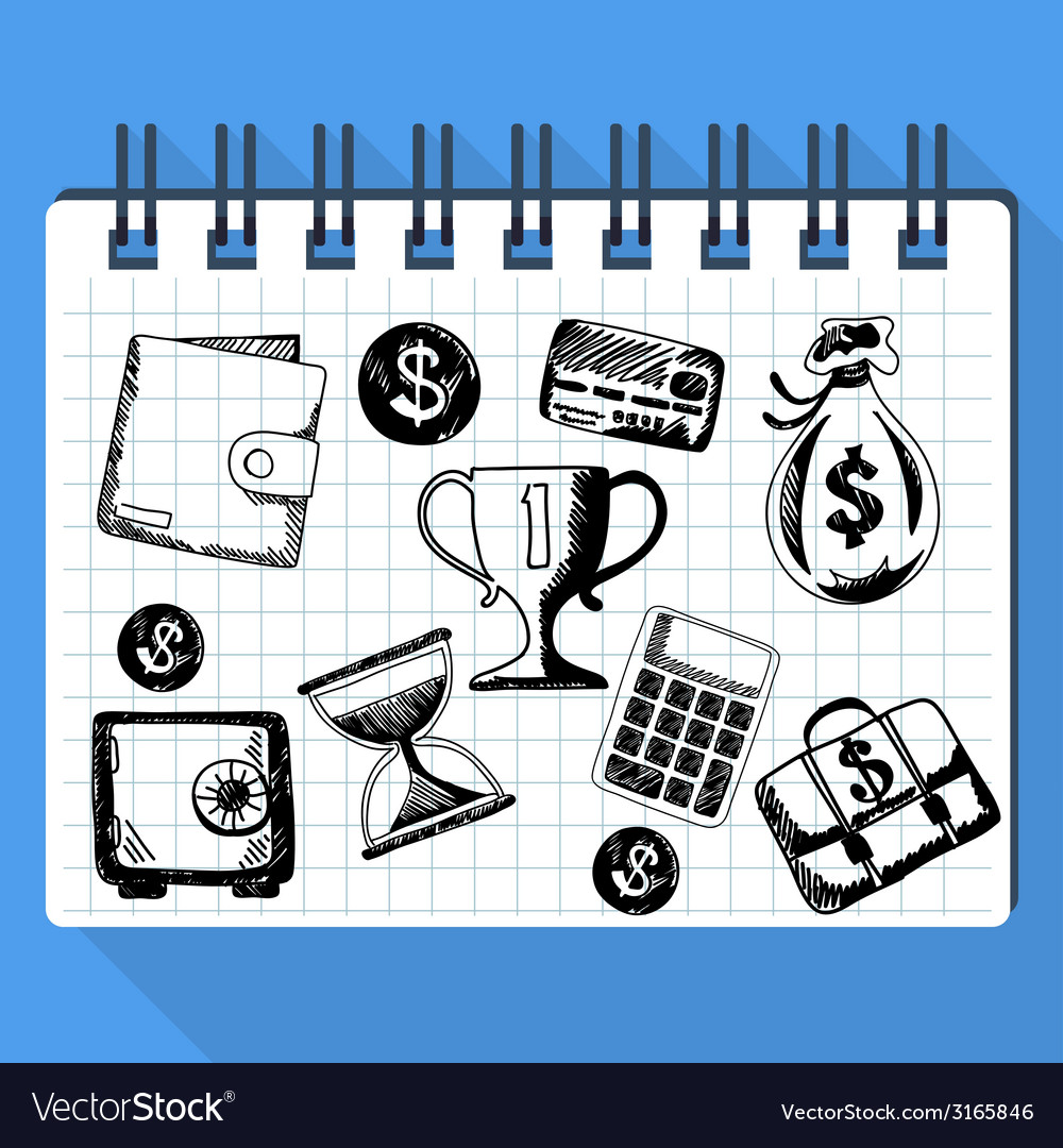 Sketch of business concept and money vector | Price: 1 Credit (USD $1)