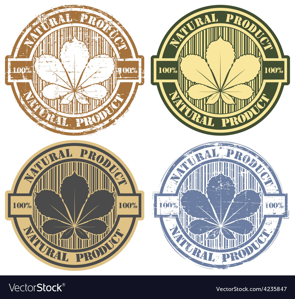 100 product natural stamp vector | Price: 1 Credit (USD $1)