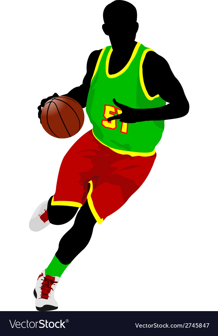 Al 0639 basketball player 02 vector | Price: 1 Credit (USD $1)