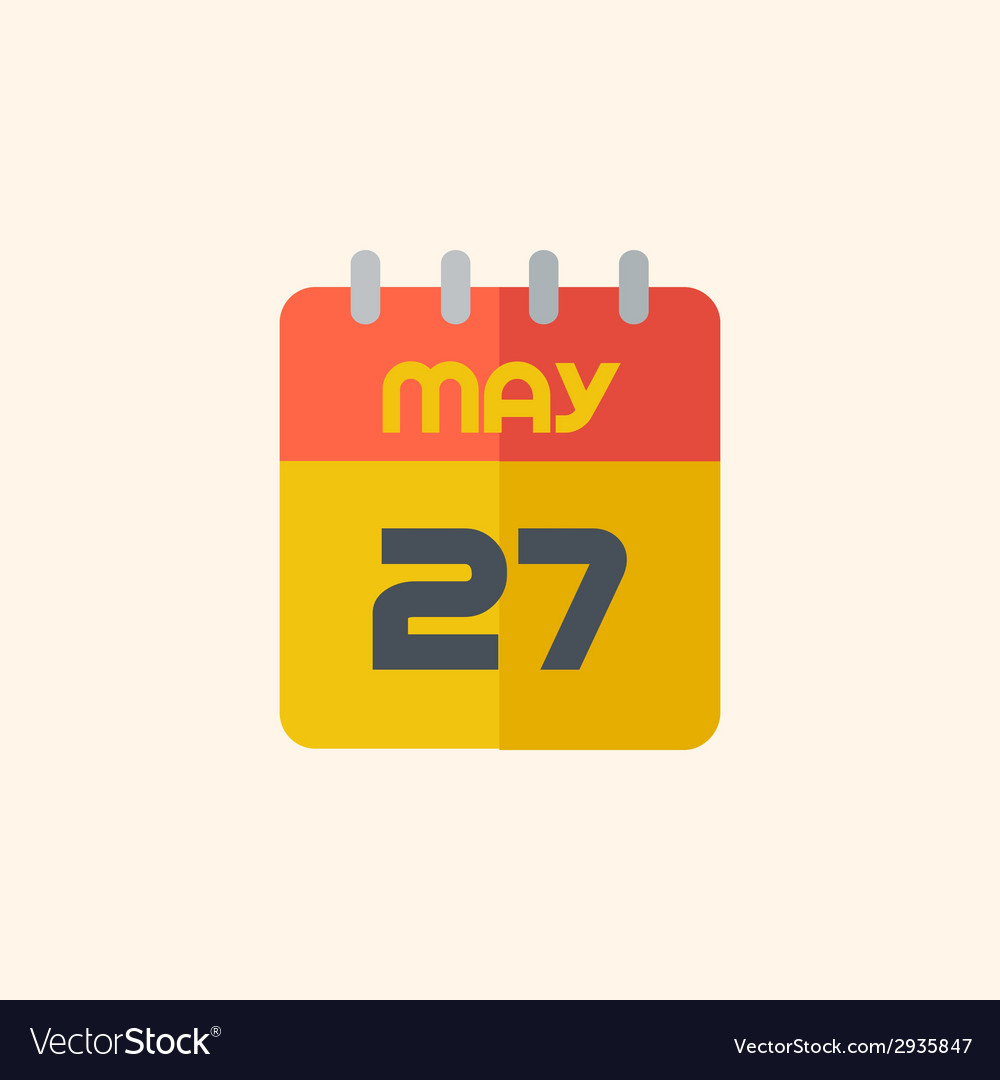 Calendar travel flat icon vector | Price: 1 Credit (USD $1)