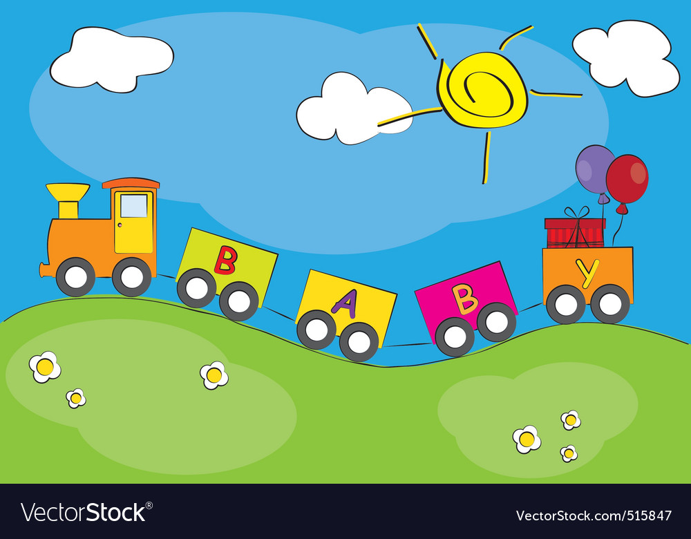 Children railway vector | Price: 1 Credit (USD $1)
