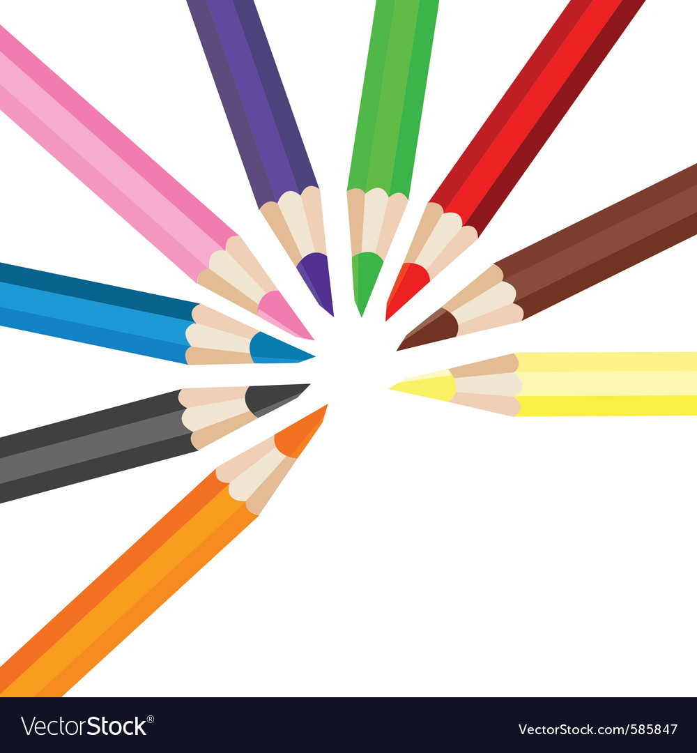 Colored pencils vector | Price: 1 Credit (USD $1)