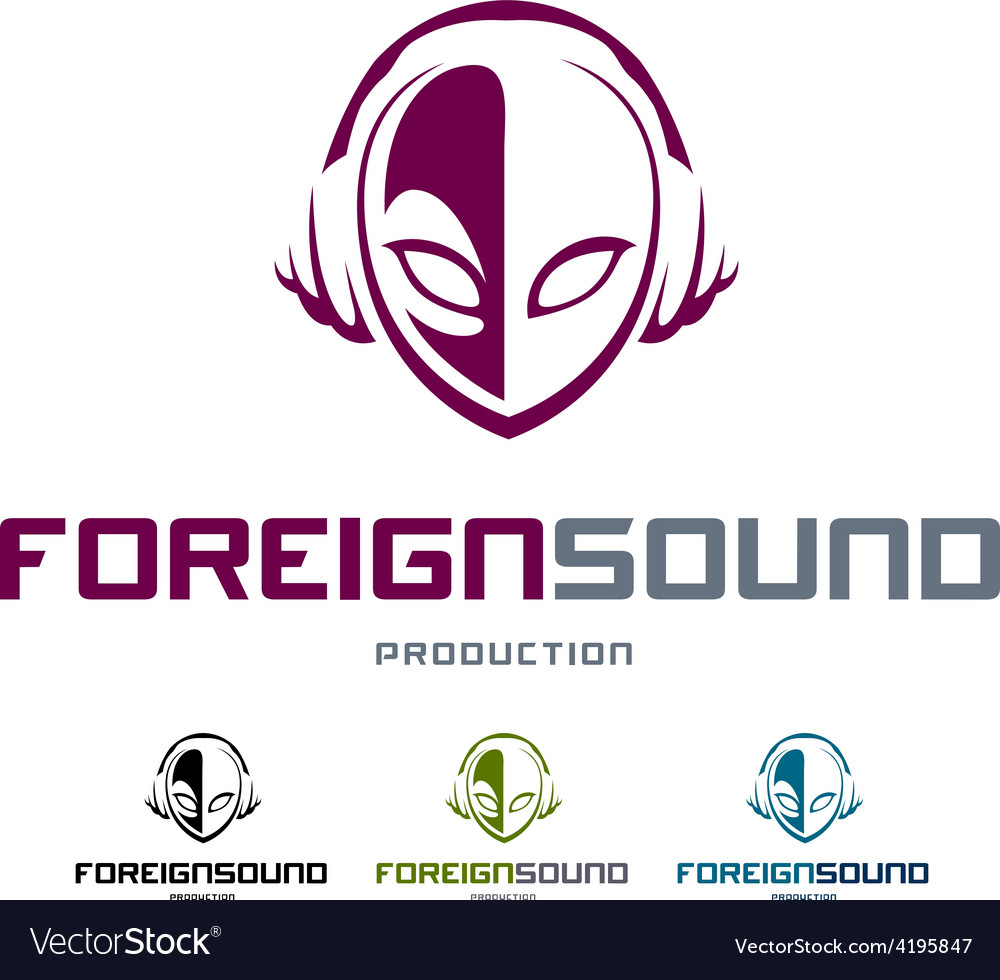Foreign sound logo vector | Price: 1 Credit (USD $1)