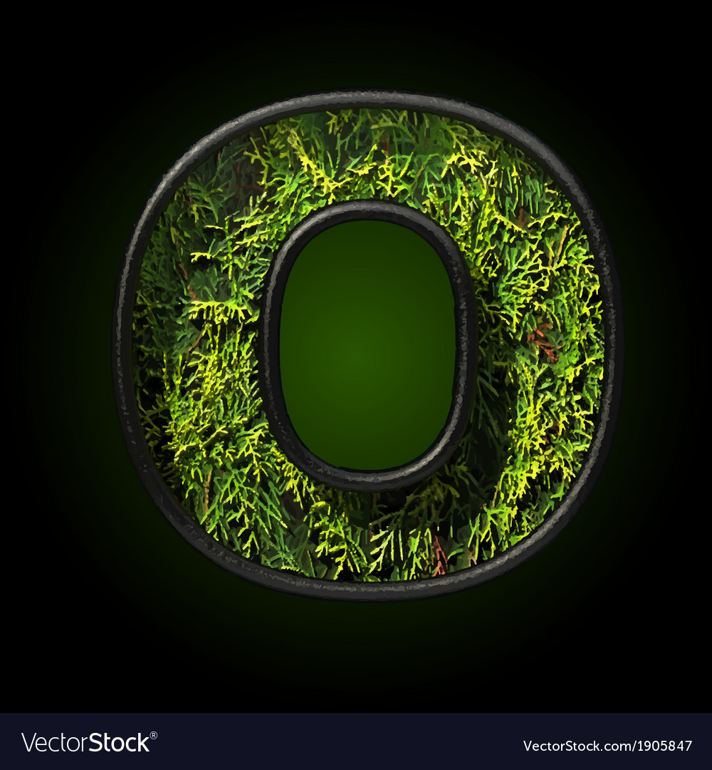 Grass cutted figure o vector | Price: 1 Credit (USD $1)