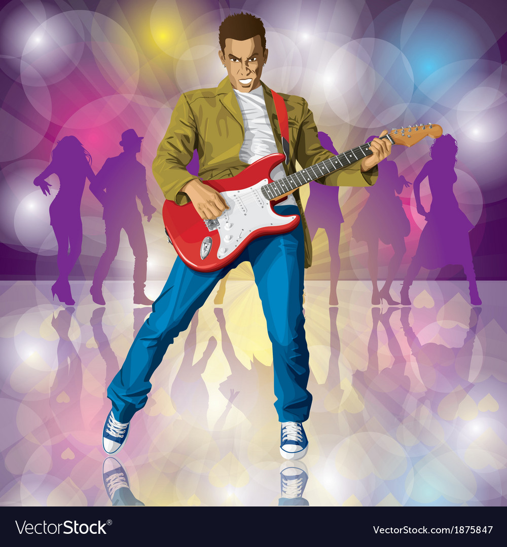 Guitarist vector | Price: 3 Credit (USD $3)