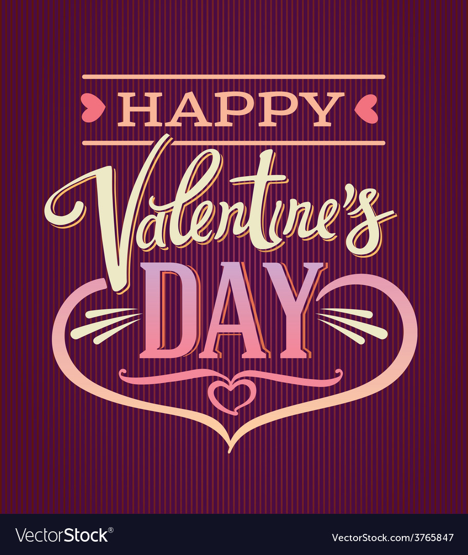 Lettering composition valentines day vector | Price: 1 Credit (USD $1)