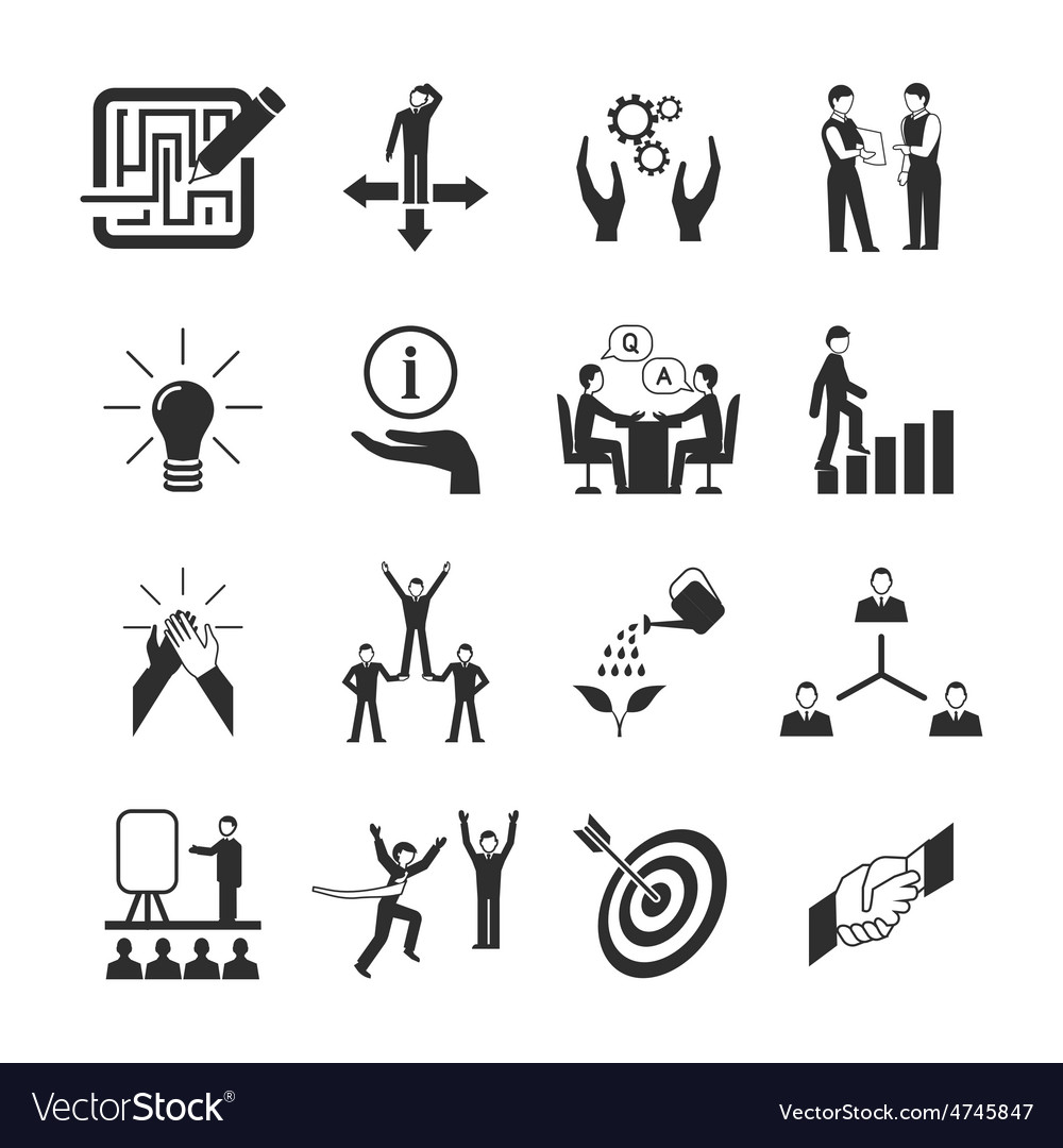 Mentoring icons set vector | Price: 1 Credit (USD $1)