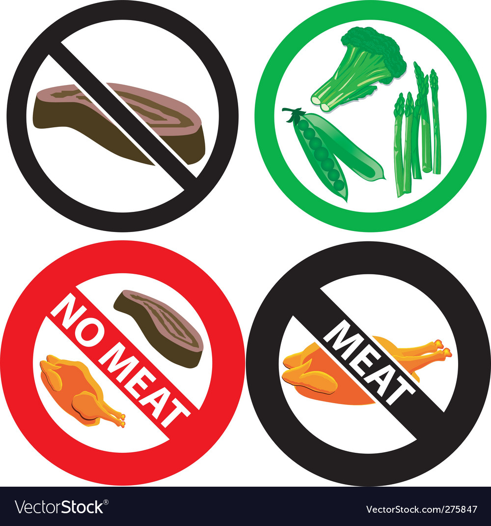 No meat sign vector | Price: 1 Credit (USD $1)