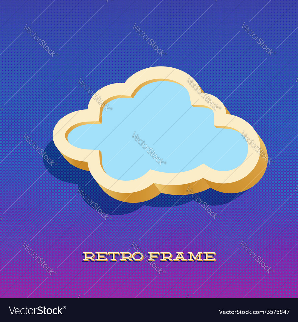 Retro card with cloud sign vector   Price: 1 Credit (USD $1)