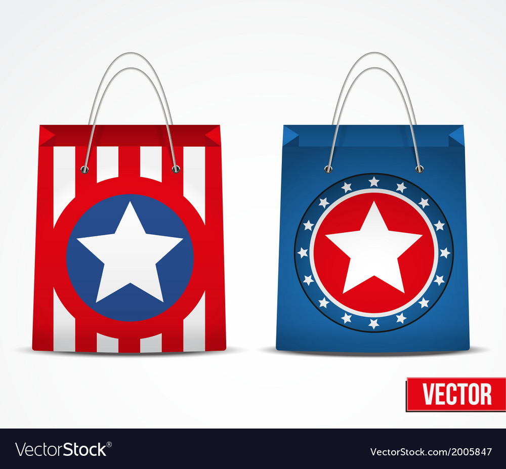 Set of star shopping bag vector | Price: 1 Credit (USD $1)