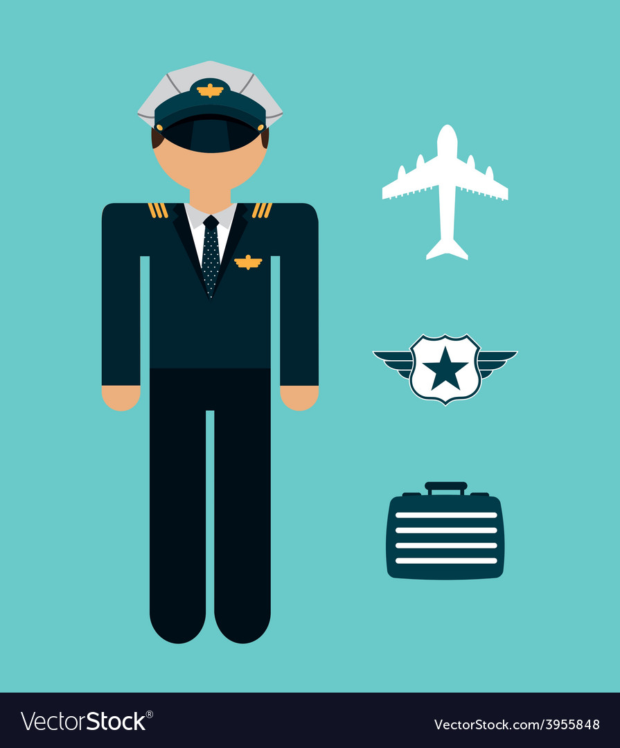 Airplane pilot vector | Price: 1 Credit (USD $1)