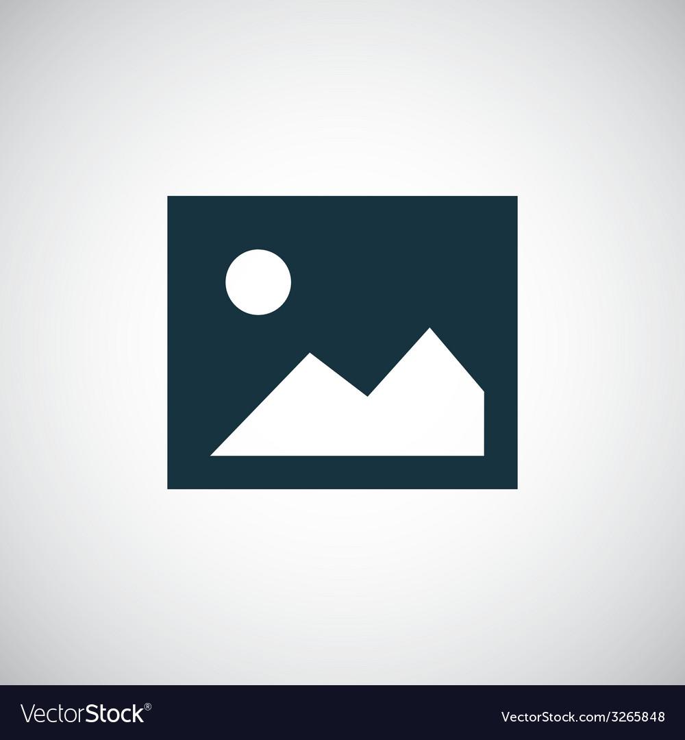 Blank photo icon vector   Price: 1 Credit (USD $1)