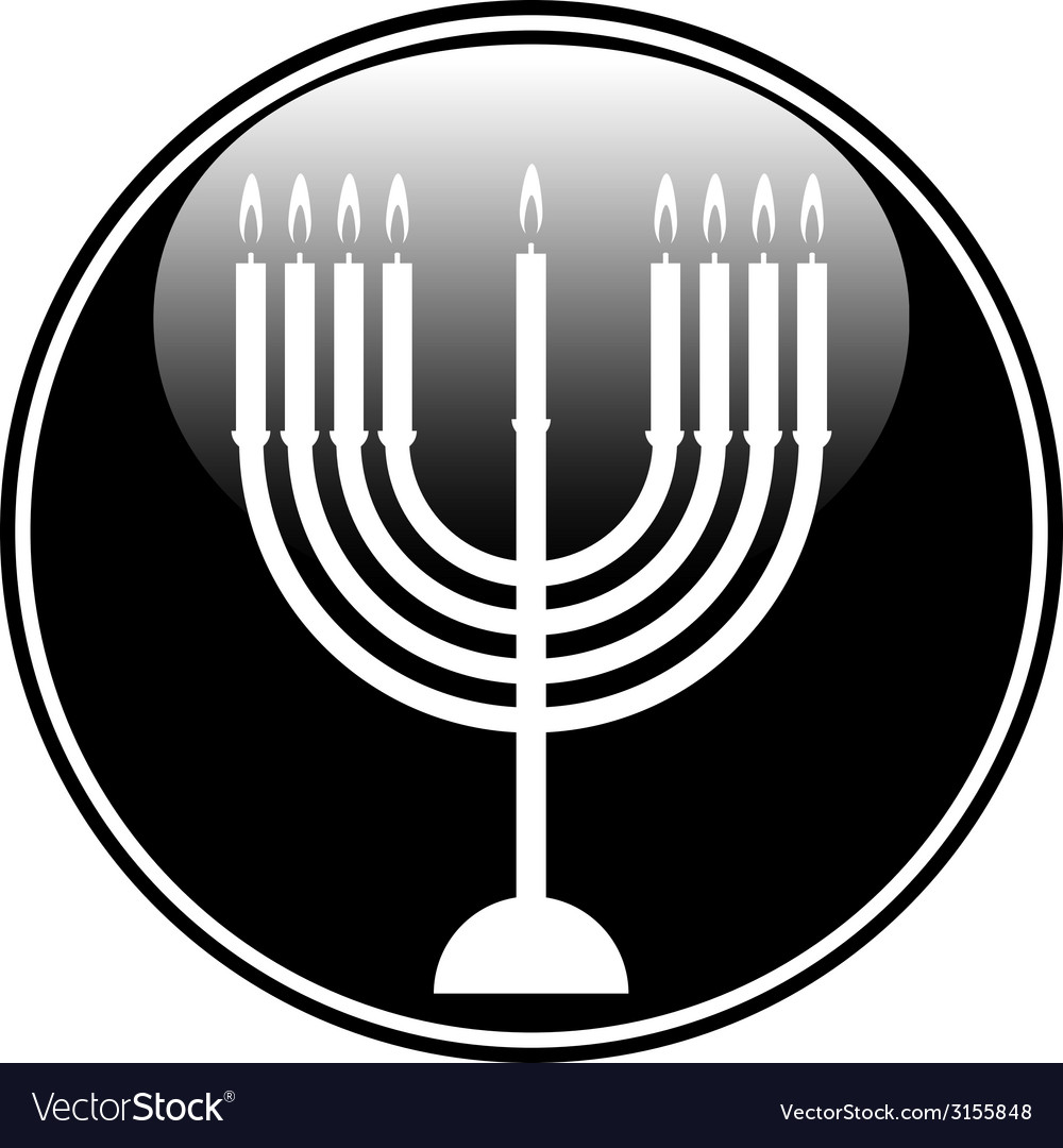 Chanukah symbol button vector | Price: 1 Credit (USD $1)