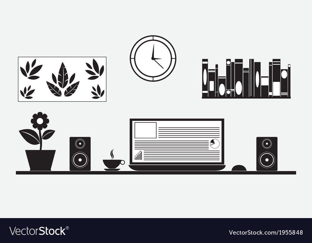 Desk vector | Price: 1 Credit (USD $1)