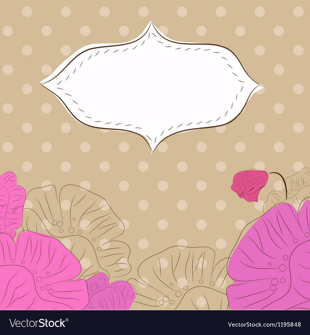 Etro background with poppies 2 vector | Price: 1 Credit (USD $1)