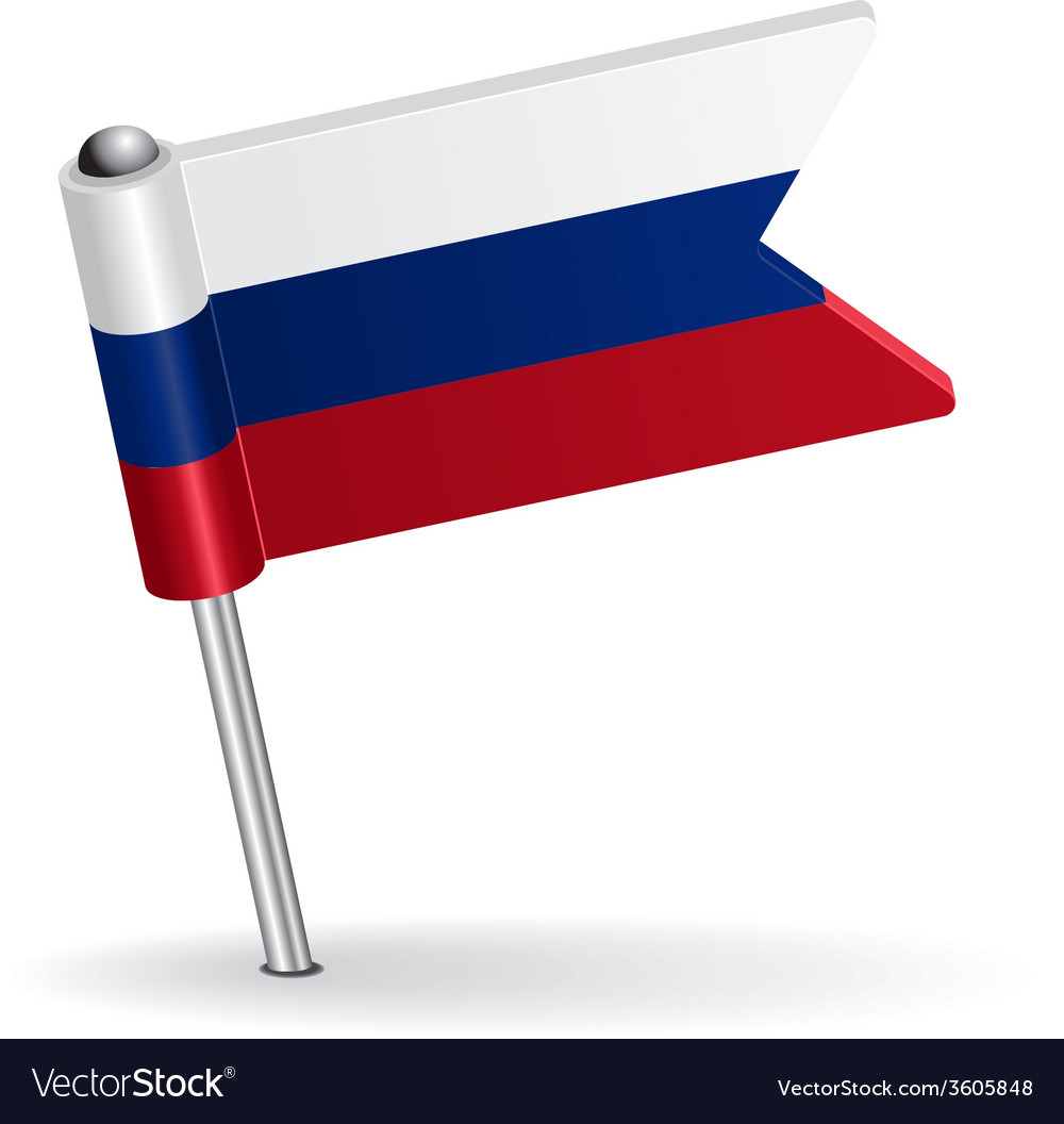 Russian pin icon flag vector | Price: 1 Credit (USD $1)