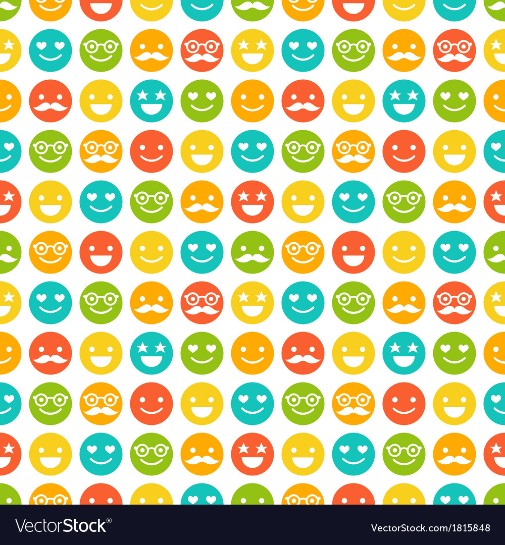 Seamless pattern with color smileys vector | Price: 1 Credit (USD $1)