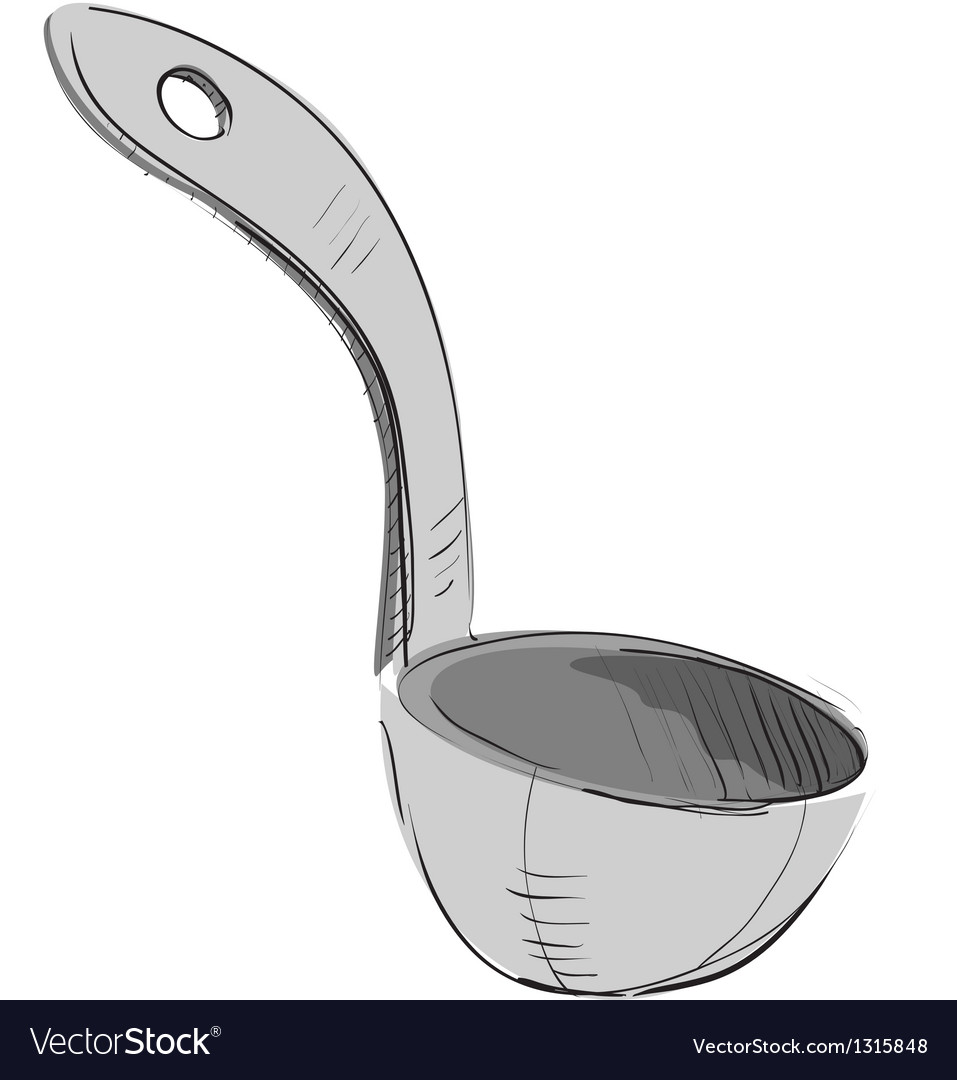 Soup ladle vector | Price: 1 Credit (USD $1)