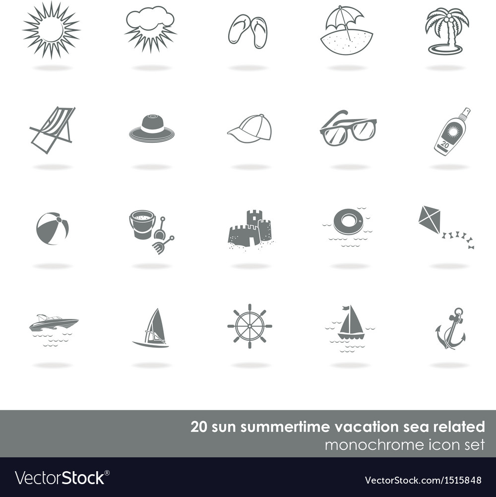 Summer swimming icons vector | Price: 1 Credit (USD $1)