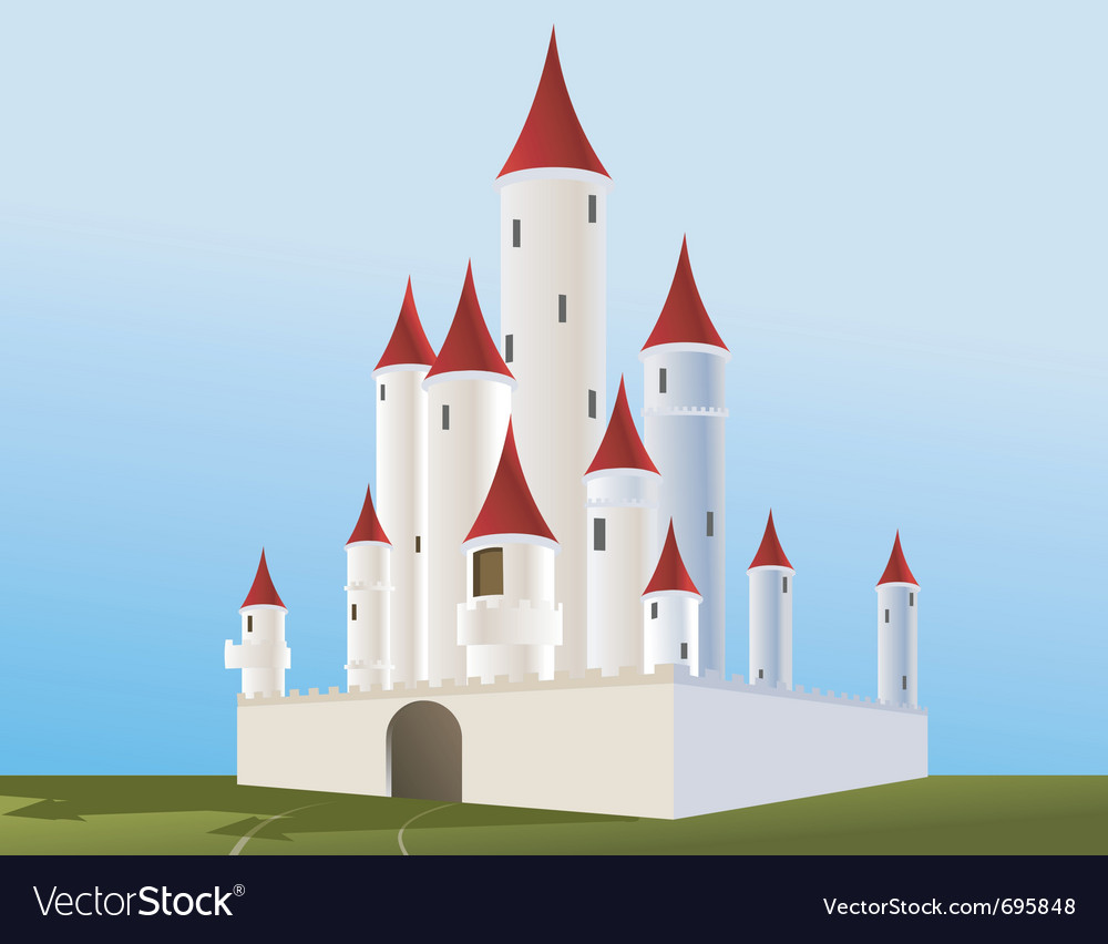 White castle vector | Price: 1 Credit (USD $1)