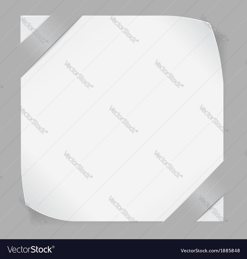White paper stickers over gray background vector | Price: 1 Credit (USD $1)