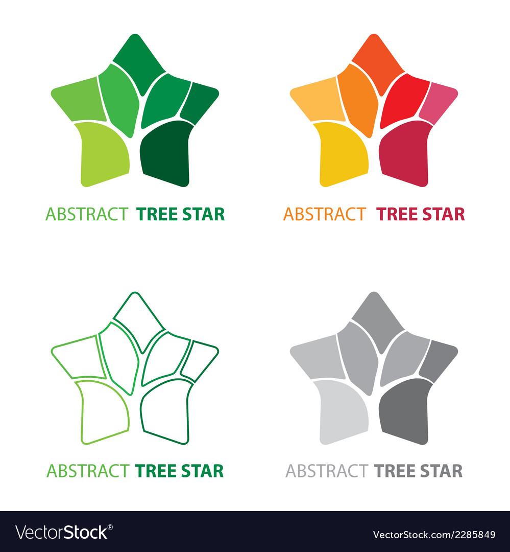 Abstract tree star symbol vector | Price: 1 Credit (USD $1)