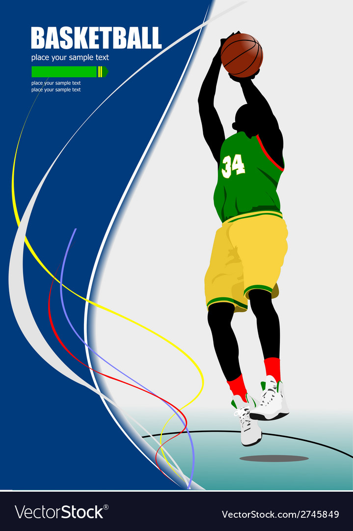 Al 0640 basketball poster 01 vector | Price: 1 Credit (USD $1)