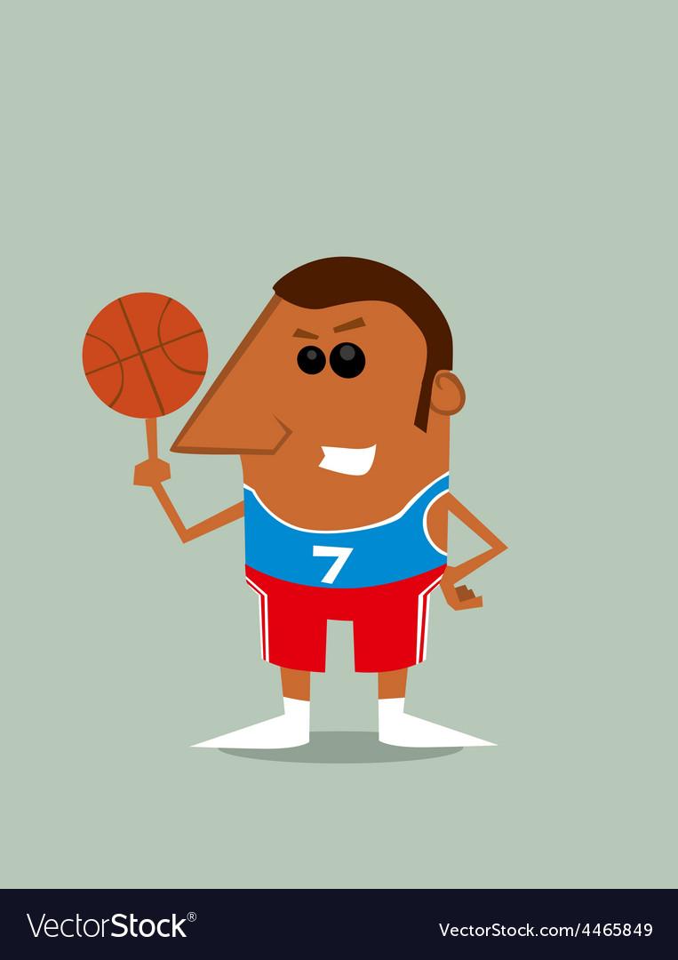 Cartoon basketball player vector | Price: 1 Credit (USD $1)