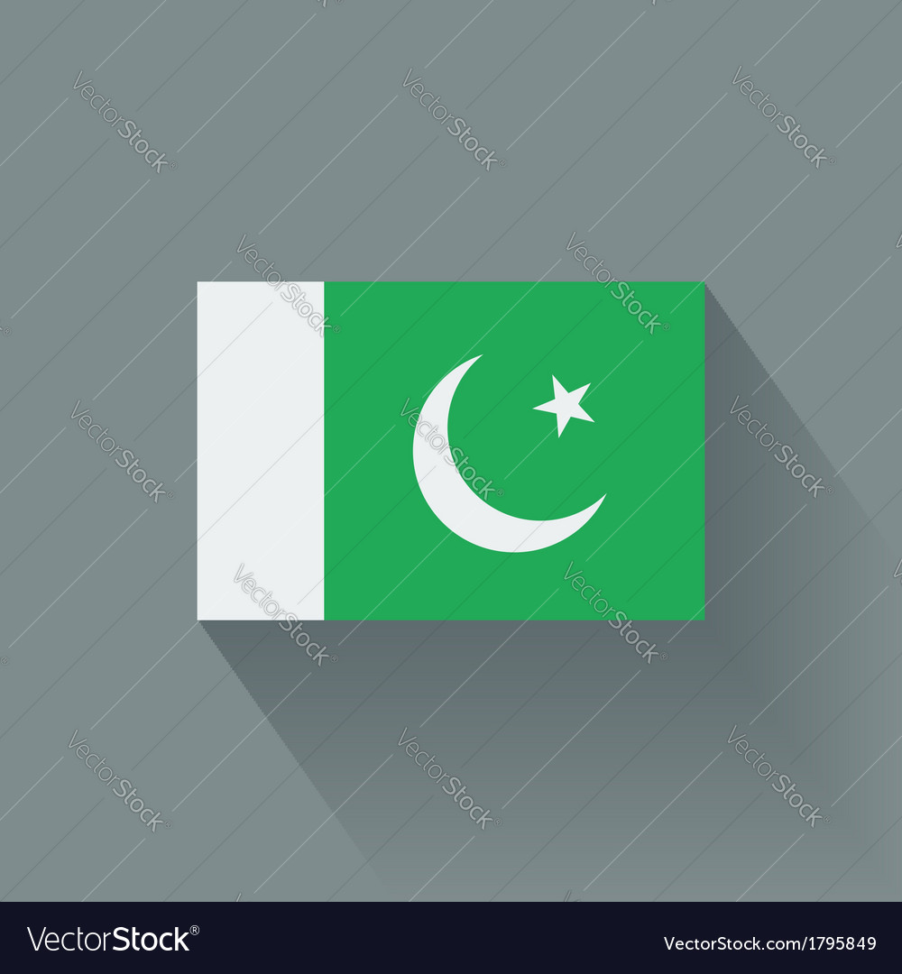 Flat flag of pakistan vector | Price: 1 Credit (USD $1)
