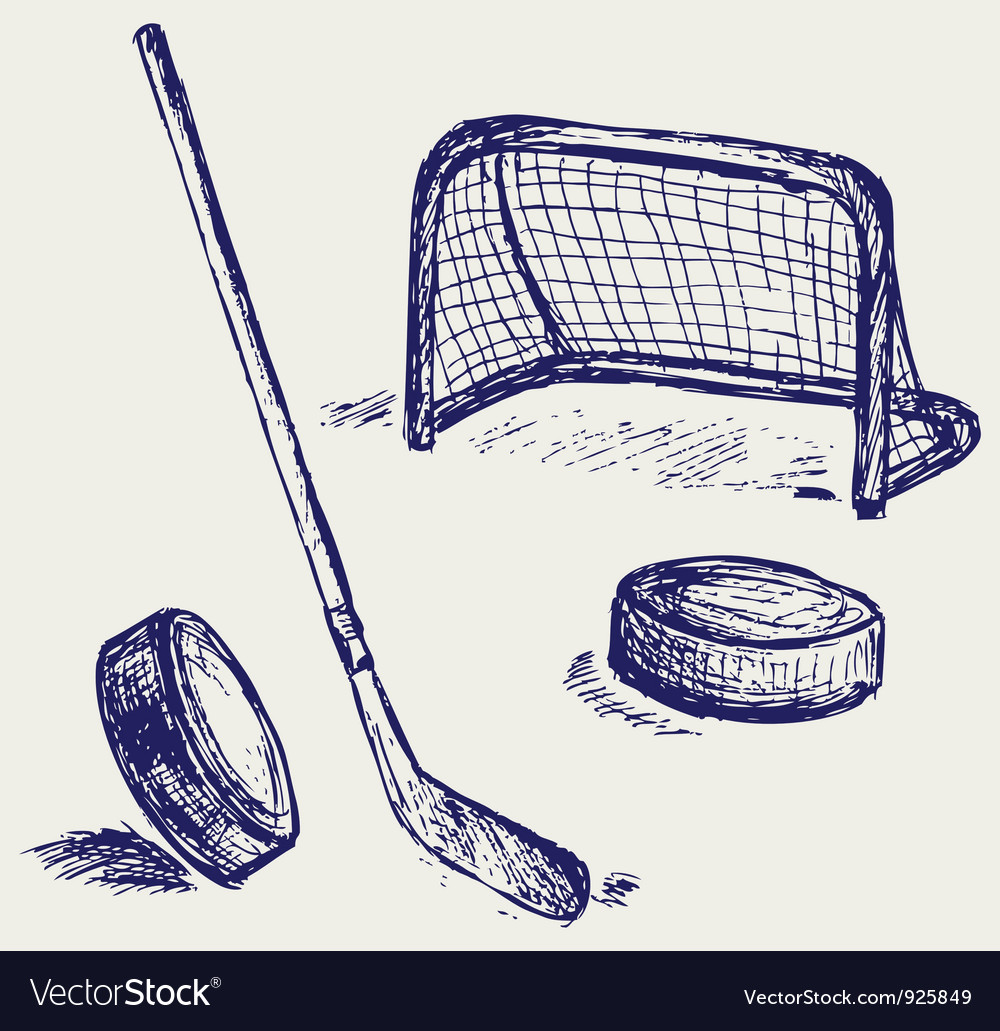 Hockey set vector | Price: 1 Credit (USD $1)