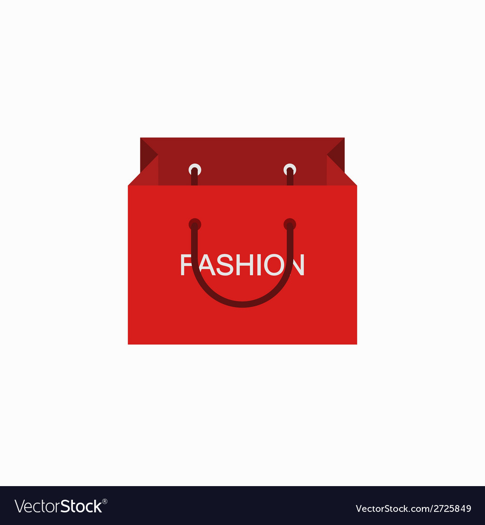 Modern shopping fashion icon on white vector | Price: 1 Credit (USD $1)