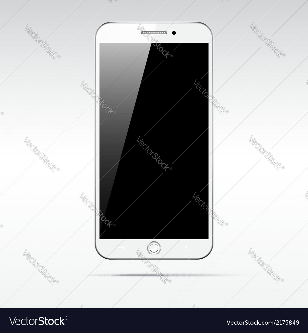 Modern touchscreen smartphone isolated on light vector | Price: 1 Credit (USD $1)