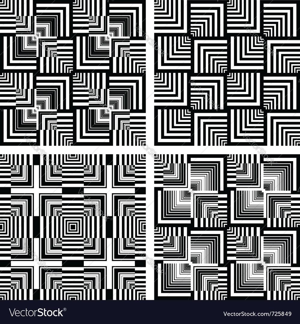 Seamless op art patterns vector | Price: 1 Credit (USD $1)