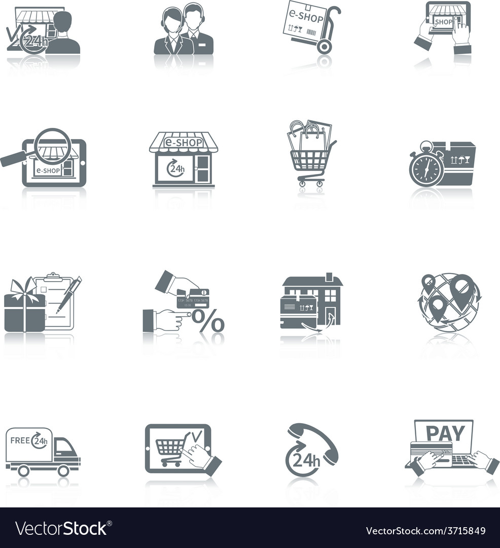 Shopping e-commerce icon vector | Price: 1 Credit (USD $1)