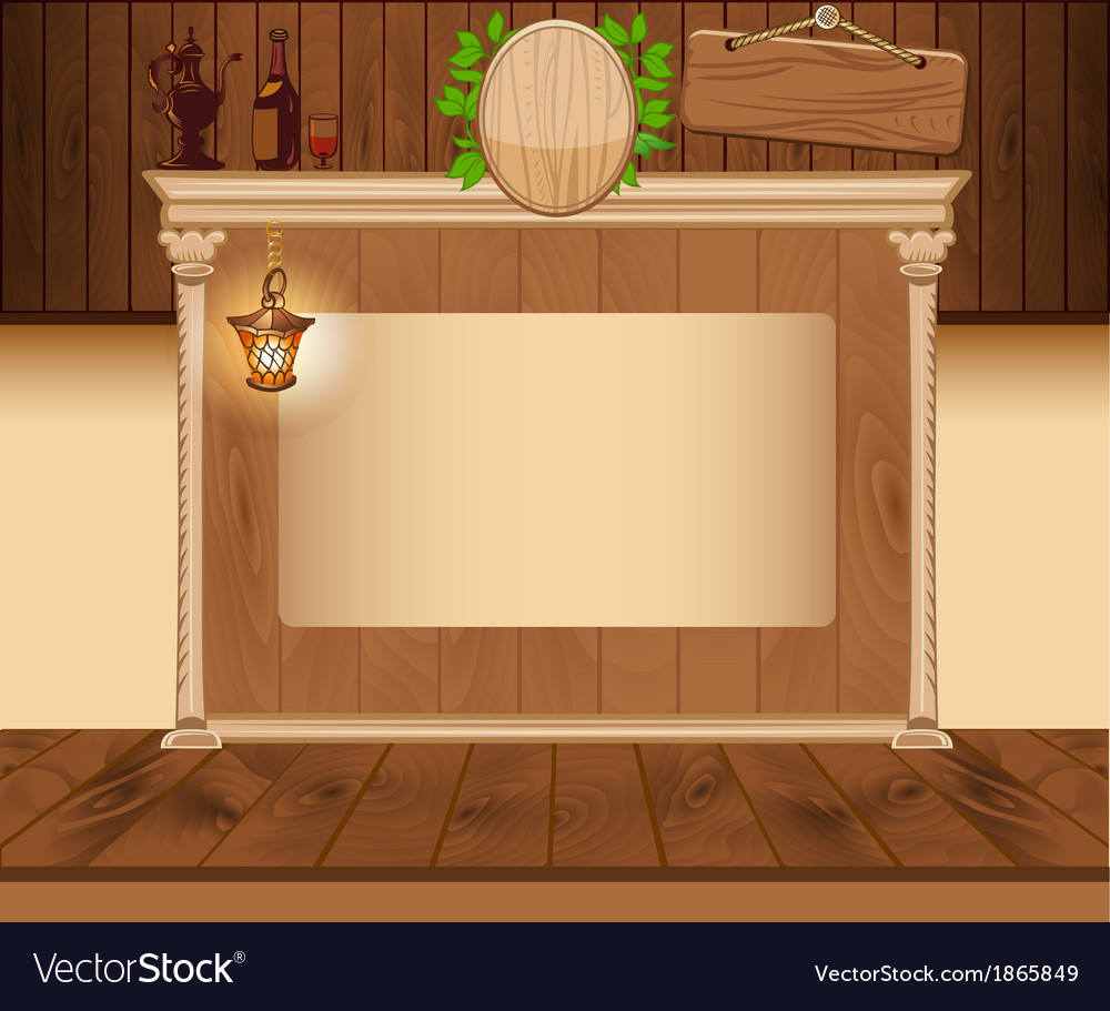Wooden vintage background for web template vector | Price: 1 Credit (USD $1)
