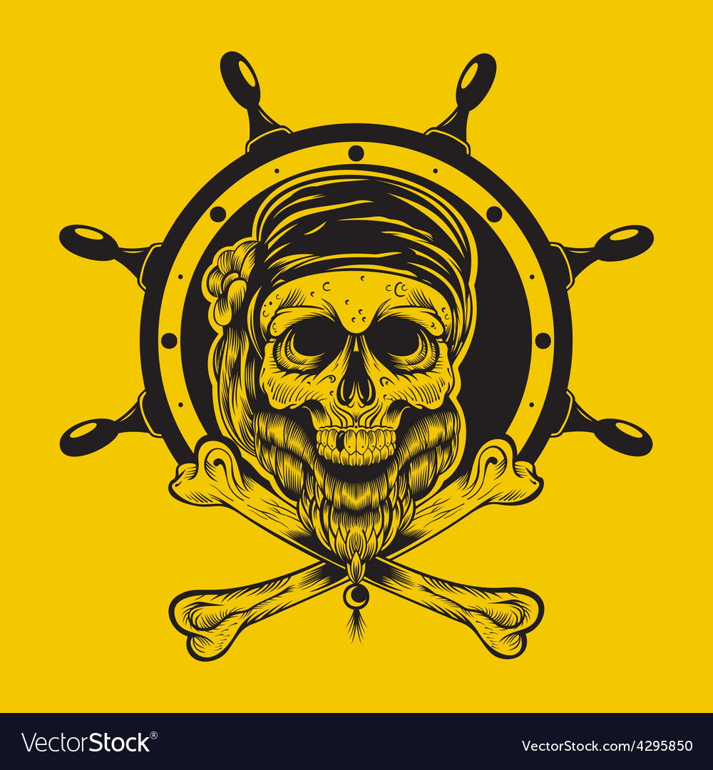 A pirate skull vector | Price: 3 Credit (USD $3)