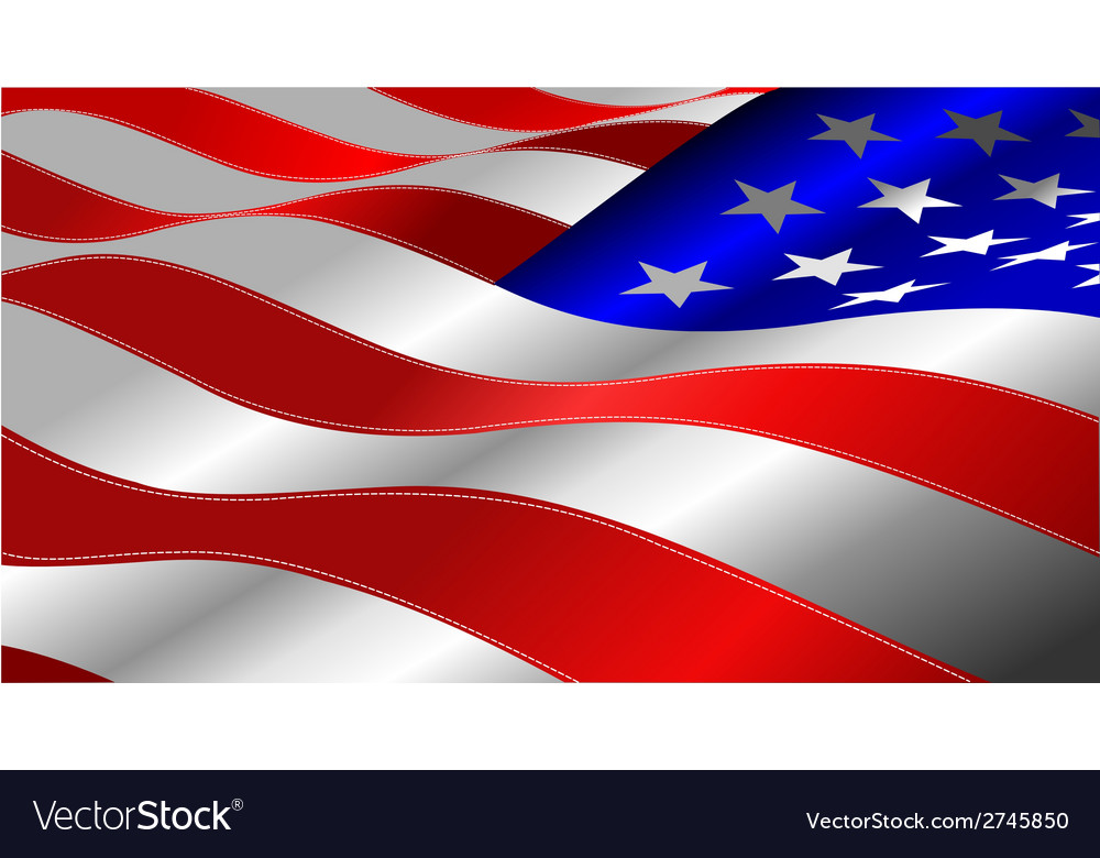 Al 0641 american flag vector | Price: 1 Credit (USD $1)