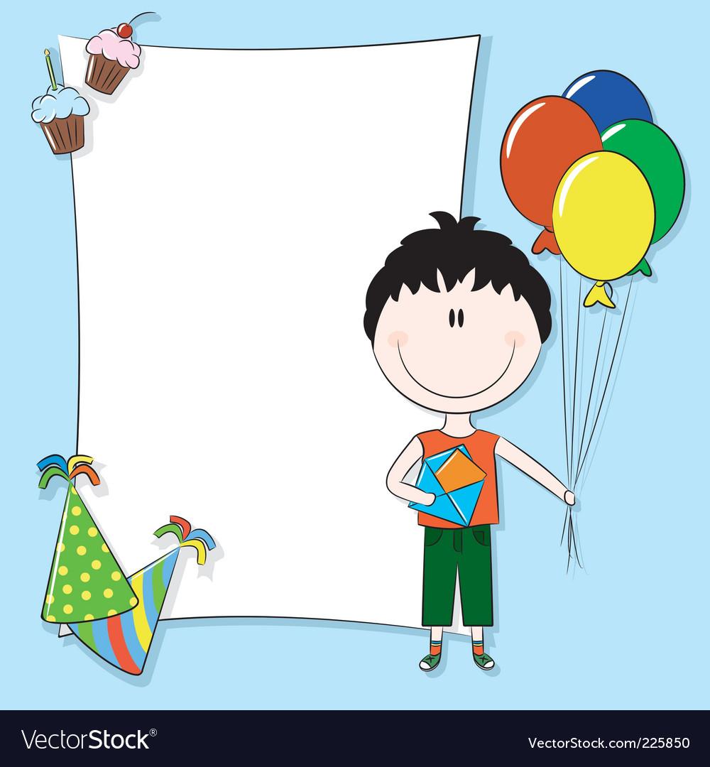 Birthday greeting card vector | Price: 3 Credit (USD $3)