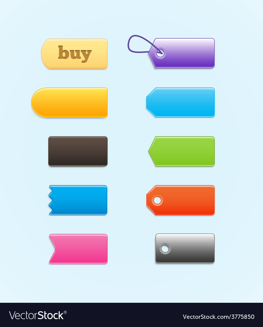 Colorful labels price tags vector | Price: 1 Credit (USD $1)