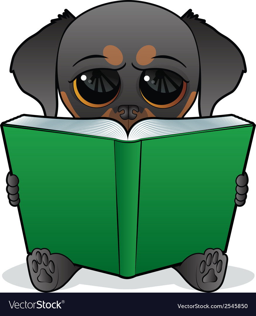 Dog book vector | Price: 1 Credit (USD $1)