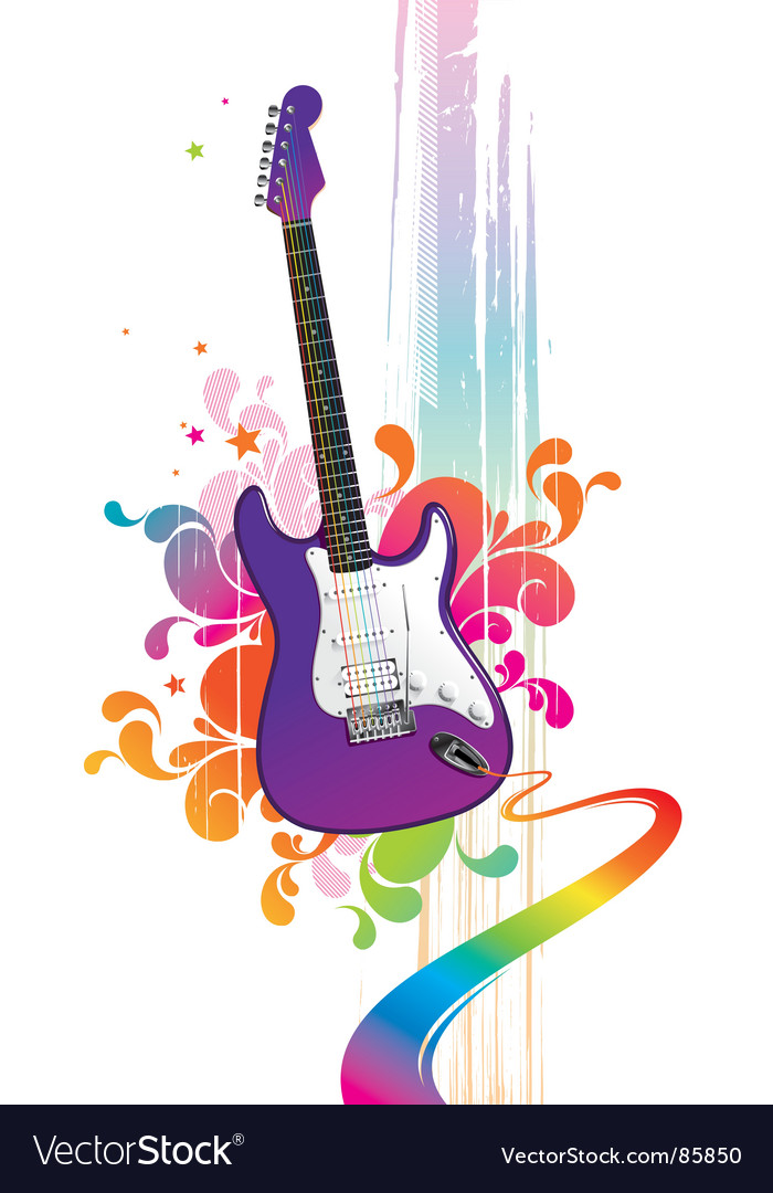 Funny guitar vector | Price: 1 Credit (USD $1)