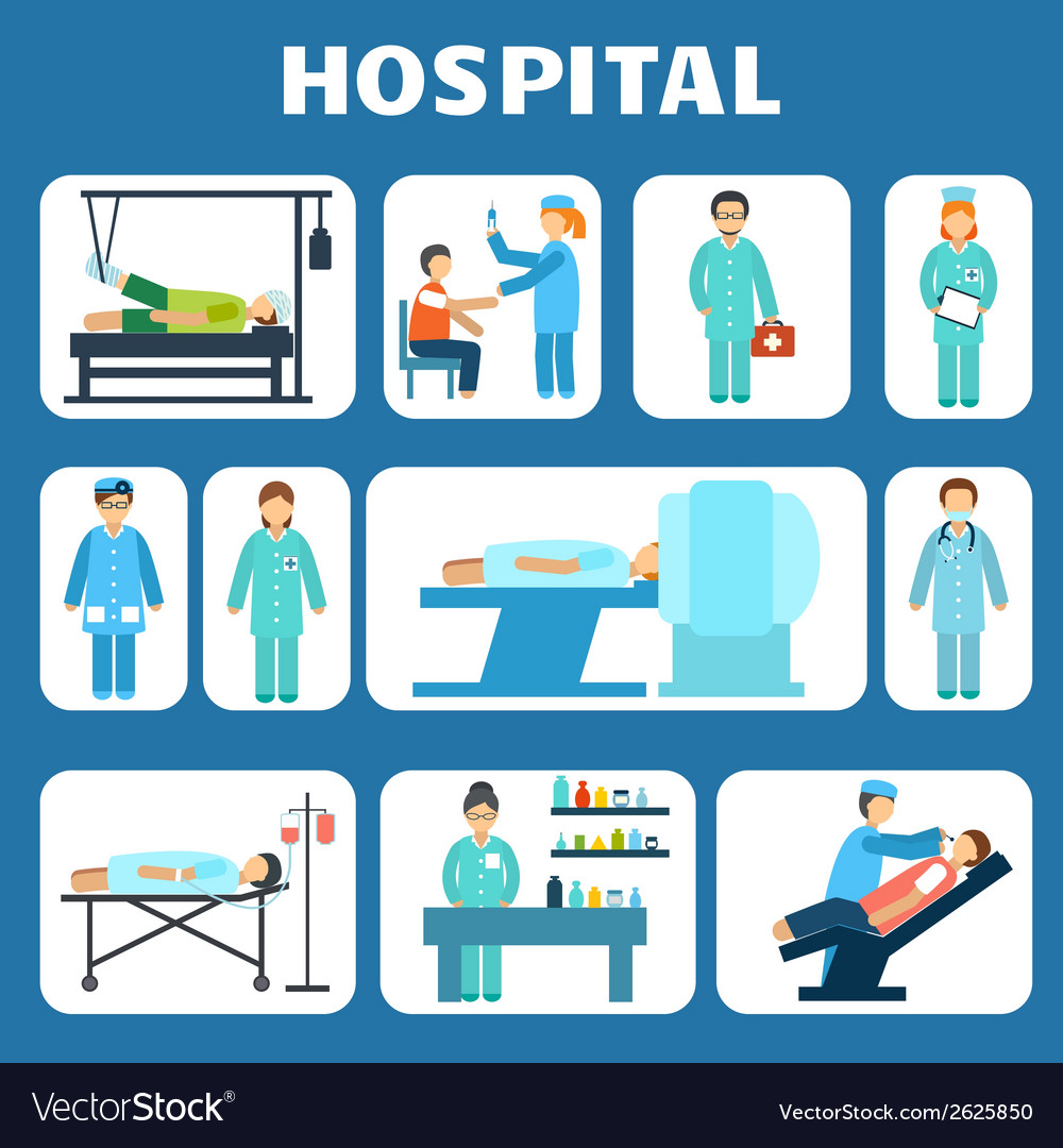 Medical flat pictograms set vector | Price: 1 Credit (USD $1)